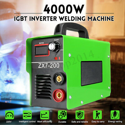 ZX7-200 4000W 220V Portable MINI IGBT ARC Welding Machine Solder Inverter Welder