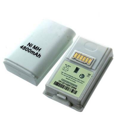 2 pcs 4800mAh Ni-MH Rechargeable Battery for Xbox 360 Wireless Controller E9H1)