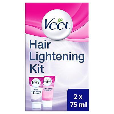 Veet Hair Lightening Cream for Face and Body, 2 x 75 ml **FREE DELIVERY**