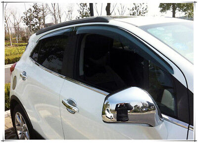 For Vauxhall Opel Mokka 2013-2017 Chrome Rearview Mirror Decoration Cover Trim