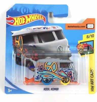 Hot Wheels 2018, Kool Kombi, Volkswagen Van, HW Art, Diecast Toy Car