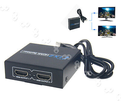 WE HDMI Splitter 1 In 2 Out Cables Repeater Amplifier Extender Switch Hub Box