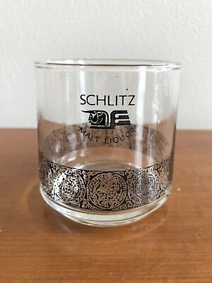 Schlitz Malt Liquor Vintage Beer Glass 3""