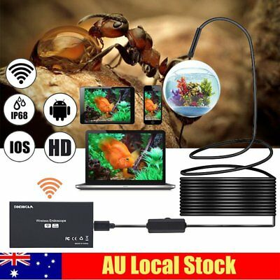 WiFi 8MM Endoscope Inspection Camera Waterproof f/ iPhone Android PC iPad IOS P8