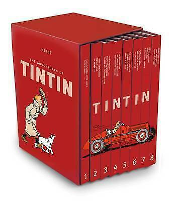 The Complete Adventures of Tintin Collection - 8 Books by Herge (Hardback, 2015)