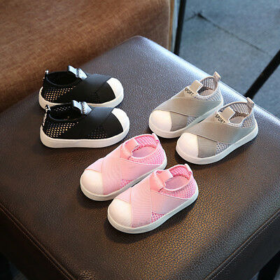 Kids Boys Girls toddler Trainers Canvas Mesh Sneaker Children Shoes Gifts