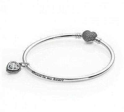 16726db74 Brand New Genuine Pandora Always In My Heart Bangle With Love Charm (Rrp  £125