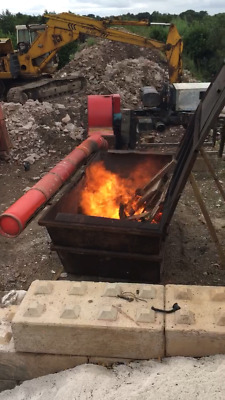 Air Burner For Waste Wood / Trees