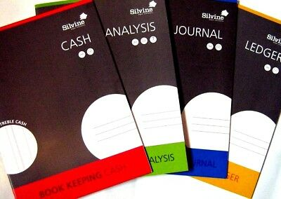 A4 ACCOUNTS BOOK KEEPING :Cash / Journal / Ledger / Accounting Book - WH2 - R5C