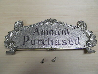 National Brass Cash Register Nickel 313 Reproduction Top Sign
