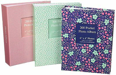 """6"""" x 4 """" Photo Album with Front Window 200 Pockets Family Pictures Photographs"""