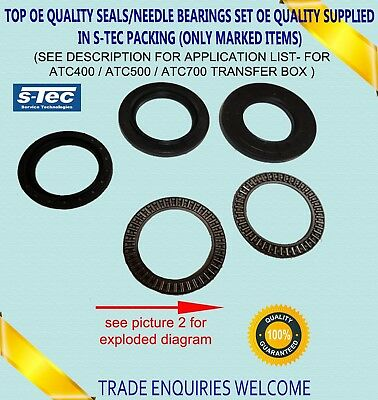 For Bmw Atc400 Atc500 Atc700 Transfer Case Friction Seals Clutch Repair Kit