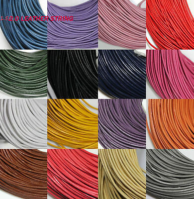 5 Meter Solid Real Leather Rope String Cord Necklace Jewelry Finding 1.5/2.0 mm