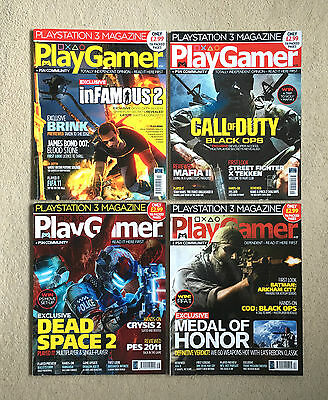 PlayGamer Magazine Bundle- Issues 14-17- PlayStation- 2010- Call Of Duty + More!