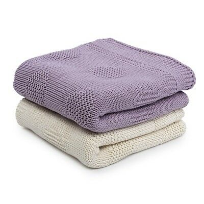 (LATTE COLOUR) Toffee Moon - Unisex Cotton Knitted Blanket (LATTE COLOUR)