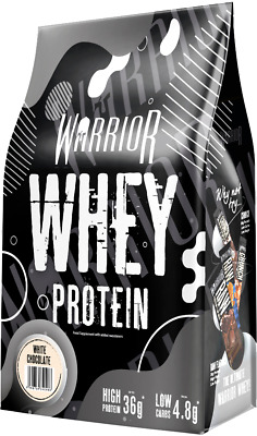All New Warrior Whey 1kg Tasty Lean Muscle Building Protein Powder - White Choco