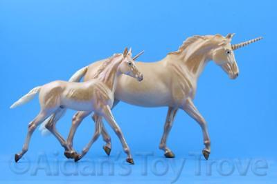 Breyer Rosalind and Rigel Mythical Unicorn Mare Foal - Traditional Horse 712235