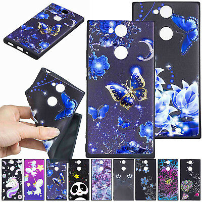 For Sony Xperia XA2 XZ2 L2 Ultra Thin Soft TPU Rubber Shockproof Skin Case Cover