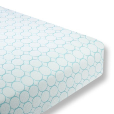 SwaddleDesigns Cotton Crib Sheet, Made in USA Premium Cotton Flannel, Turquoise