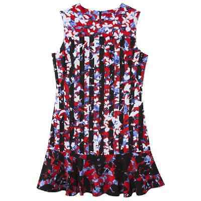 819589db209ee Peter Pilotto for Target Red Floral Print Sleeveless Ruffle Hem Dress Size  XS M