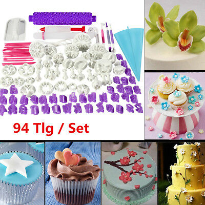 94pcs Fondant Biscuit Cake Cookie Maker Mold Mould Edge Cutter Cookie Maker Mold