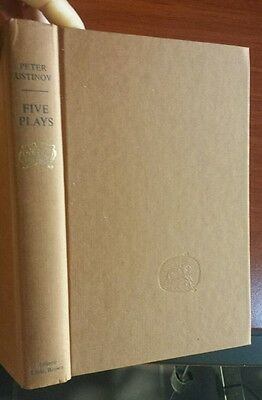 Five Plays by Peter Ustinov - vintage 1965 Hardcover - First American Edition