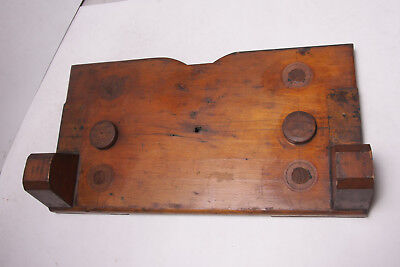 """Lamson Industrial Foundry Wood ~10x18 1/4"""" Sliding Bed Bracket Mold Pattern M10"""