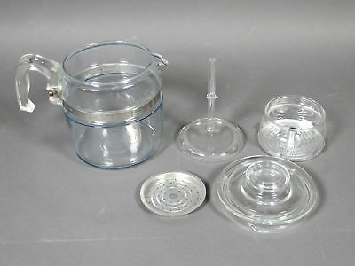 Pyrex 7756-B Glass Stove Top Percolator 6-Cup Coffee Pot Complete