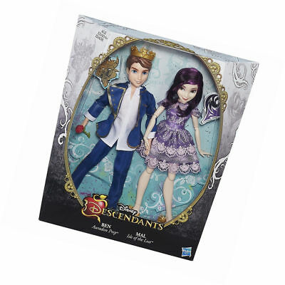 Disney Descendants Two-Pack: Mal Isle of The Lost and Ben Auradon NIB. Free Ship