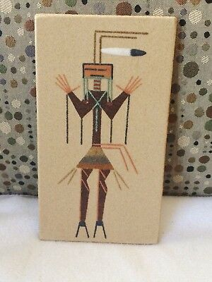 9 x 5  Navajo Native American Kachina Sand Art  Yee Dancer  god of Medicine Man