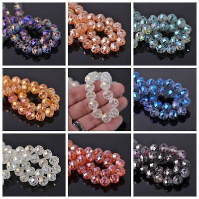 20pcs 12mm Round Spacer Faceted Loose Glass Spacer Beads Jewelry Making Findings