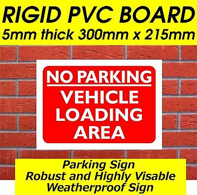 No Parking Vehicle Loading Area Sign Safety Sign Parking Sign Security Sign