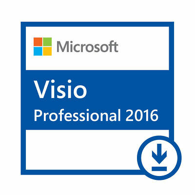 Microsoft VISIO 2016 Pro Retail Installs on 2 PC's + Free US Tech Support