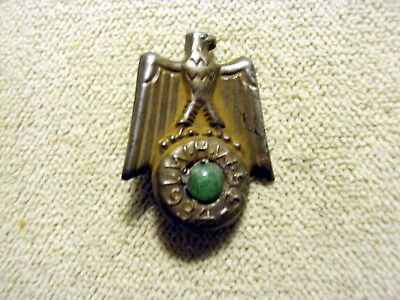 Wwii 1935 German Whw Winter Help Eagle  Donation Tinnie Badge Pin