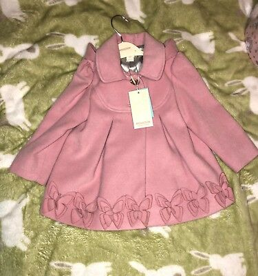 217983b2a BNWT MONSOON baby girl coat pink 18-24 baby be a butterfly