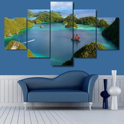 Indonesian Sea Nature 5 pieces Canvas Wall Art Picture Printed Home Decor