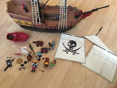 Playmobil Pirate Ship 2011 With Parts And Figures Nice Condition