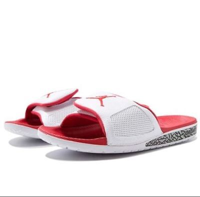 4dcbf514cd32 Mens Jordan Hydro 3 III Retro White Fire Red Sandals 854556-116 Size 12 US