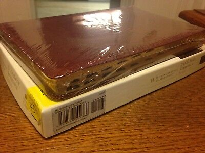 Burgundy Genuine Leather! Holman CSB/HCSB UltraThin Reference Bible Indexed!