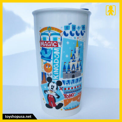 Starbucks Disney Magic Kingdom Mickey Ceramic Tumbler Travel Mug Disney