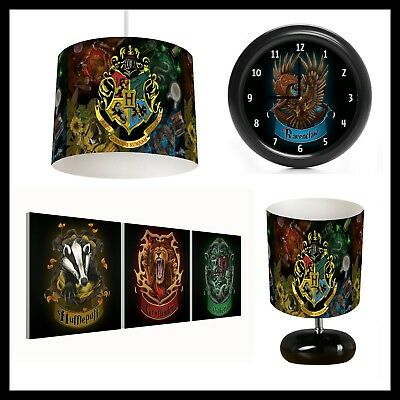 HARRY POTTER (484) - Unisex Bedroom - Lampshade, Lamp, Clock & Pictures