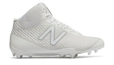 e6807a8af New Balance White Mid Molded Lacrosse Cleats (BURNXMWT) Men s Size 8.5