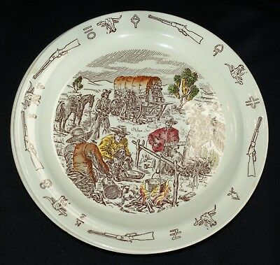 "5 Vintage 1950's Vernon Kilns Frontier Days Winchester 10 1/2"" D. Dinner Plates"