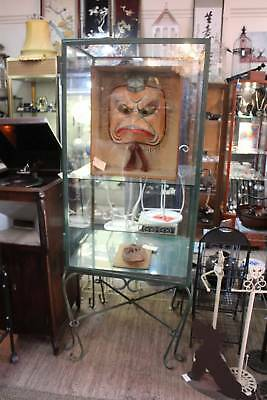 A Large French Wrought Iron & Glazed Show Case - Display Cabinet