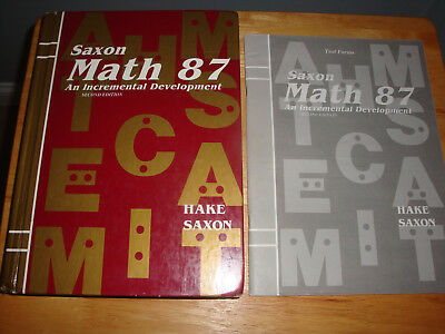 Saxon Math 87 8/7- Student Text & Test Forms -Second Edition