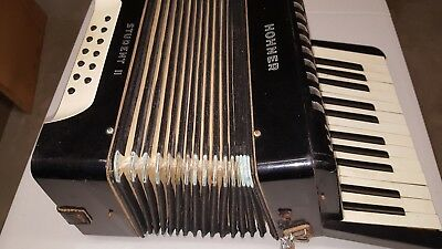 VINTAGE HOHNER STUDENT Accordion With case, Good Bellows