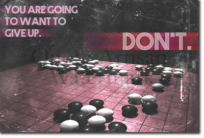"Go Motivational Poster 02 ""DON'T give up."" Art Print Motivation Quote Boardgame"
