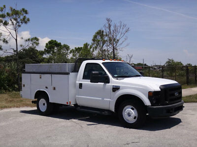 2009 Ford F350 DRW Service Utility Body 6.4L Diesel 1 Owner FL City Fleet Truck