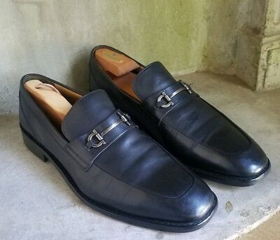 bab326d88d9 COLE HAAN MARTINO Bit black leather Loafers Slip On Shoes Sz 10.5 ...