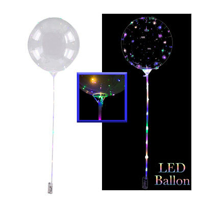 LED Folienballon mit Stab, Partyballon, Ballon mit Lichterkette,30LED Luftballon